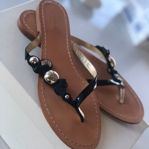 Coach Oceanna Patent leather sandals